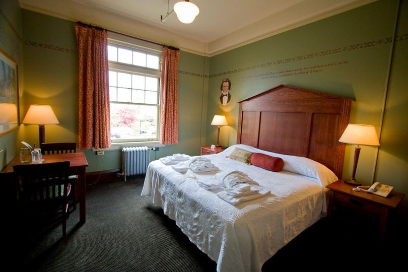 Guest room at McMenamins Grand Lodge