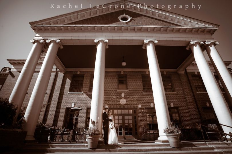 The front steps of McMenamins Grand Lodge