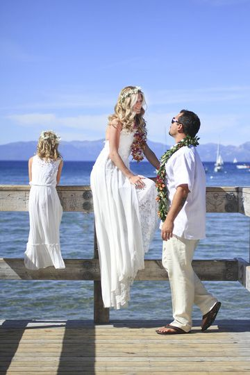 Another beautiful lake side wedding in South Lake Tahoe at Valhalla.