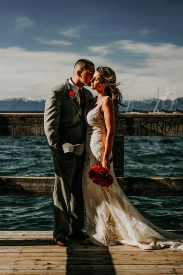 Lake Tahoe Boat Dock Wedding
