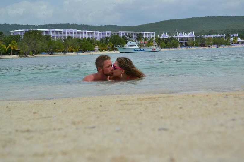 Eric and Sharee Roff at Sandals Montego Bay, Jamaica