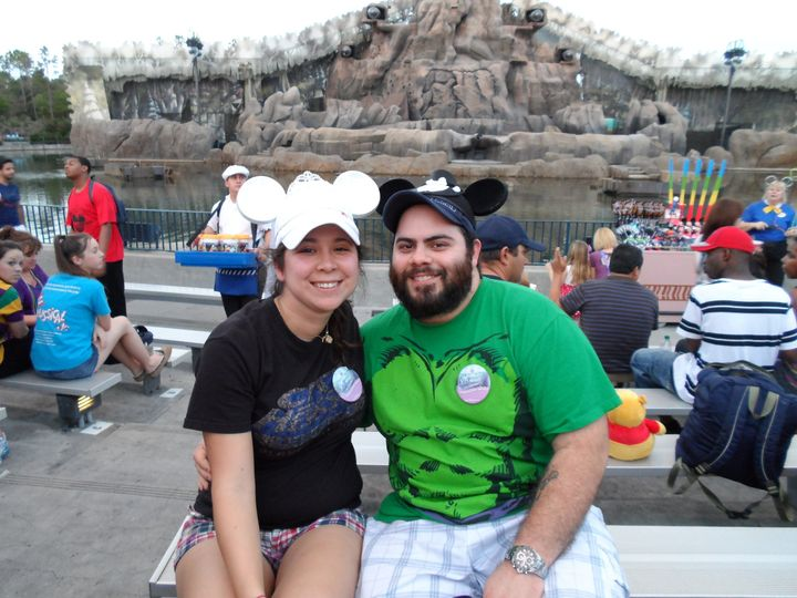 Tiffany and Luis Machaco on their honeymoon at Disney World.