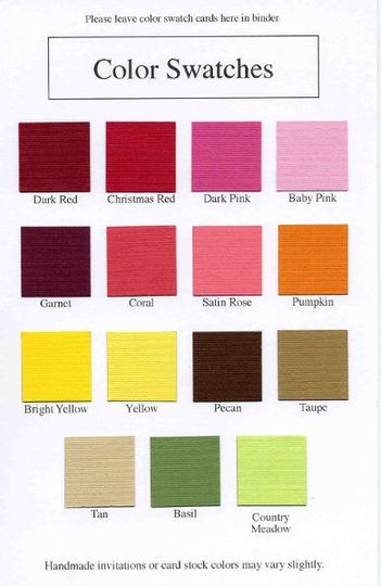 sample color card