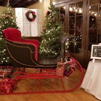 Antique sleigh used for photo booth