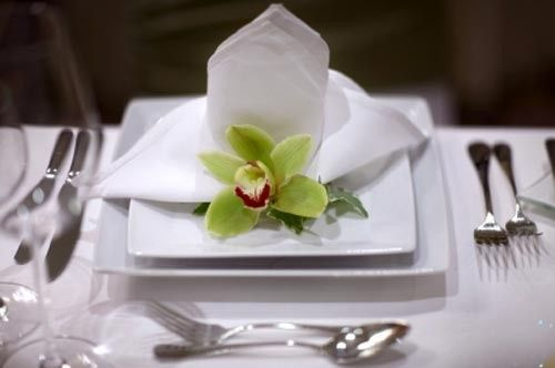plate with orchid