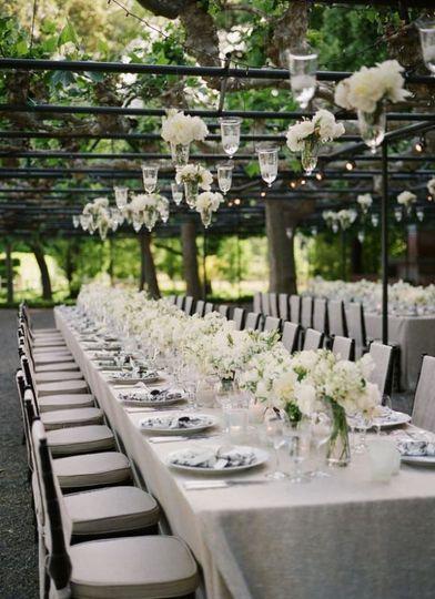 stylish white outdoor recep