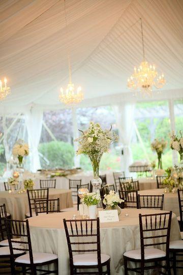 white tent wedding reception