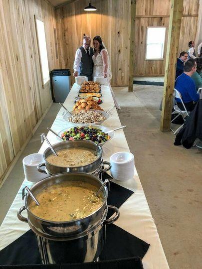Long table buffet