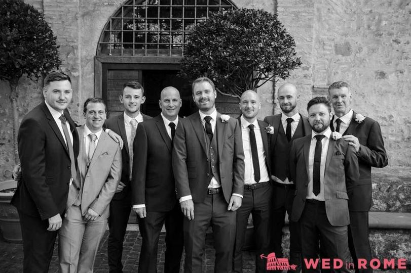 James and his groomsmen.