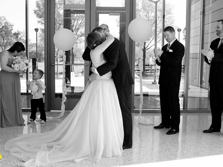 Tmx 1463076656903 Atrium Ceremony Gray Bride And Groom Kiss Indianapolis, IN wedding venue