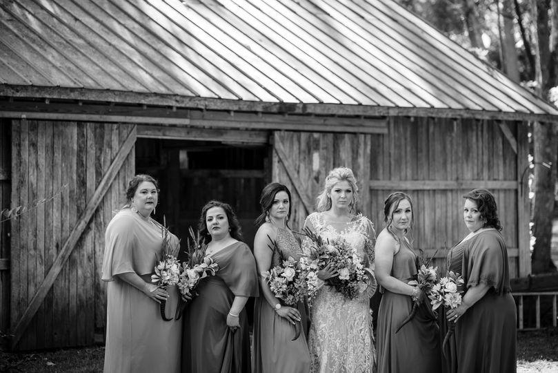 Bridal Party at the Horse Barn