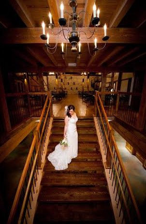 Bridal portrait on the stairs