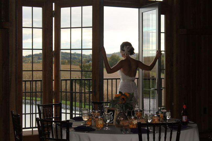 Bridal portrait by the windows
