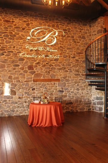 Table setup in orange hues