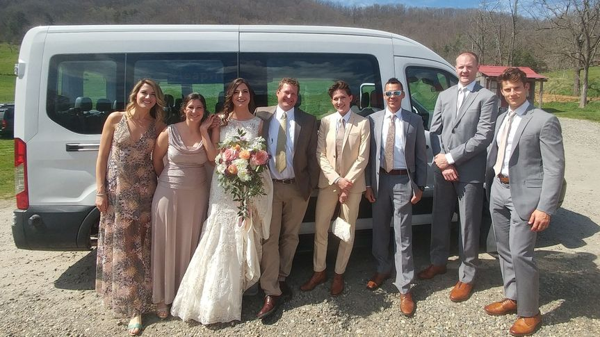 We provide transportation for the bridal party or the entire guest list.