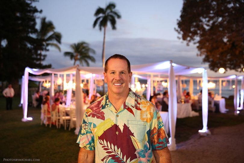 DJ Dan Maui at the reception