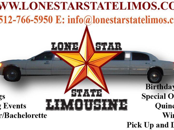 Tmx 1445483036231 Lone Star State Limo Business Card Kyle wedding transportation
