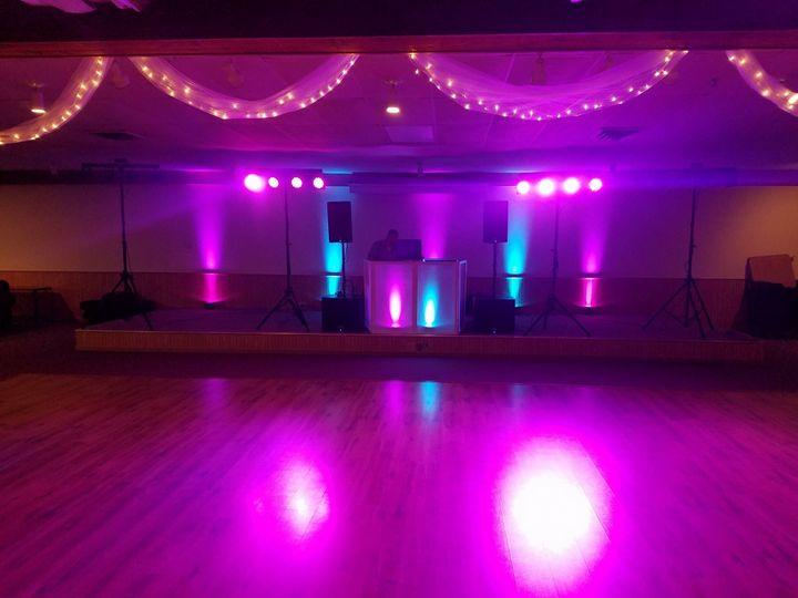 DJ table & Lighting setup