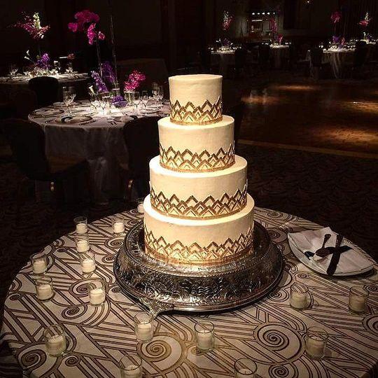 Four tear wedding cake