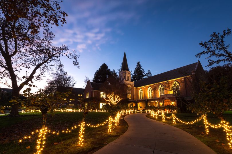 Morris Chapel at Night