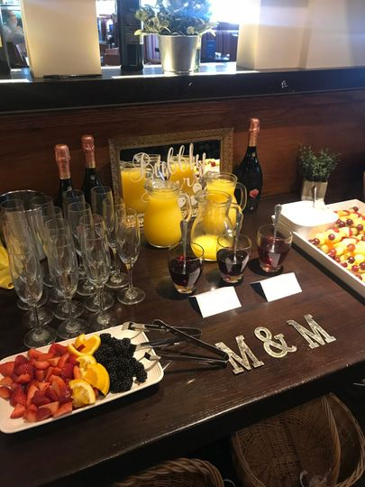 Bridal Shower Custom Mimosa Bar