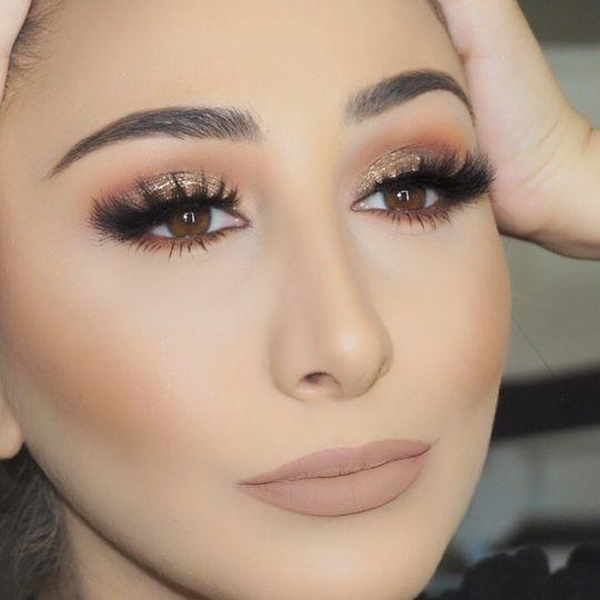 Closeup look at the makeup