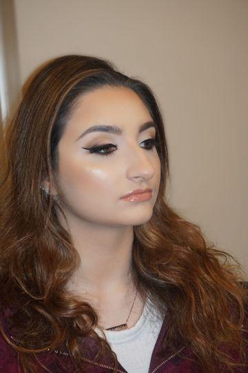 Makeup in progress
