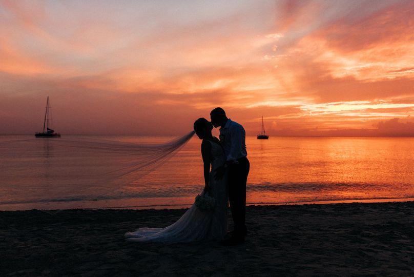 A sunset kiss
