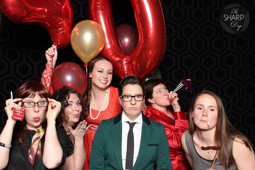 mad men theme photo booth surprise party the sharp