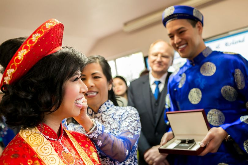 vietnamese ceremony long beach wedding photo
