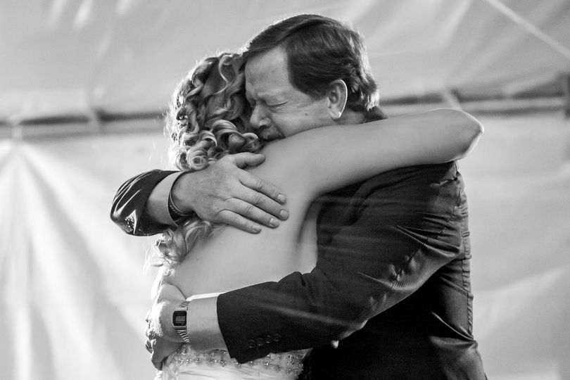 father daughter dance backyard riverside wed