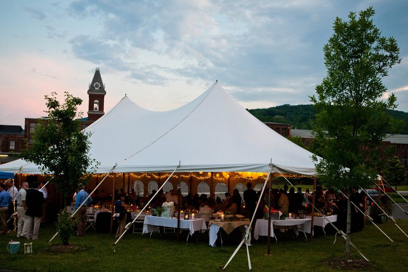 Tent wedding celebration