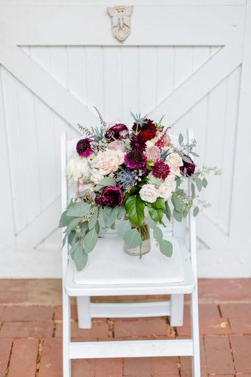 Burgundy bouquets