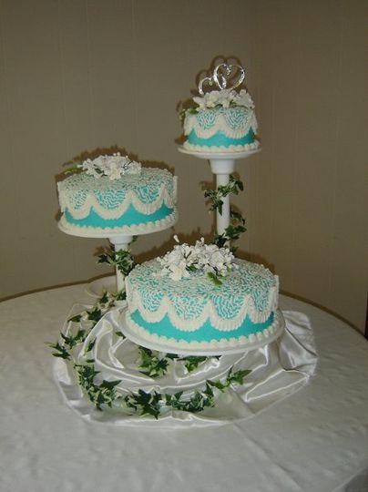 Aqua Wedding Cake, Summer 2009