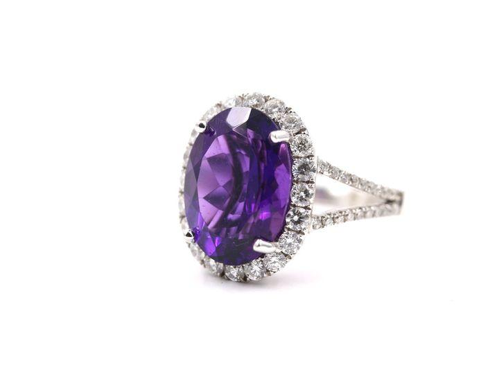 Tmx 1537822219 F5245a373b4a20a8 1537822217 D45ae279a25dcb26 1537822218893 3 Amethyst Diamond R Tustin wedding jewelry