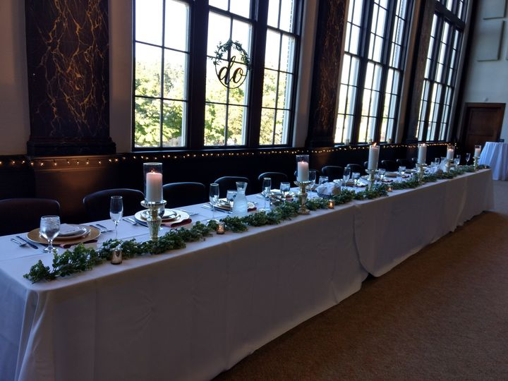 Head Table set for 12