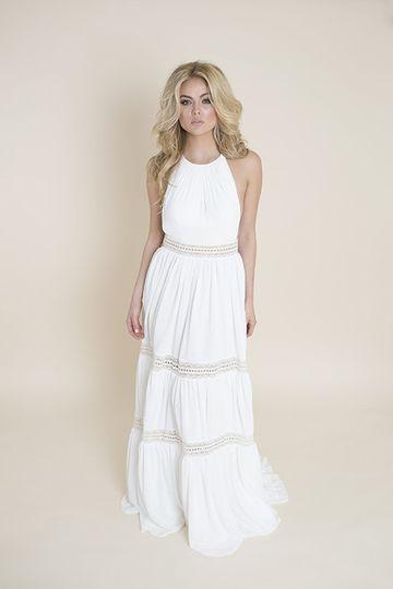 Segmented wedding dress