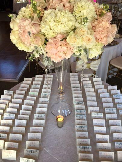 Wedding assignment cards