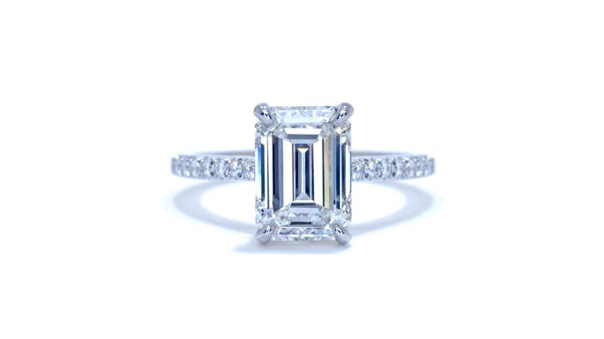 Diamond Prong Emerald