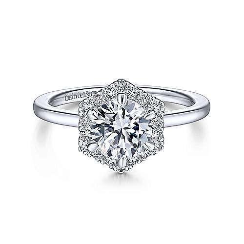 Tmx Gabriel 14k White Gold Hexagonal Halo Round Diamond Engagement Ringer14788r4w44jj 1 51 430890 158818590963439 Fort Worth, TX wedding jewelry