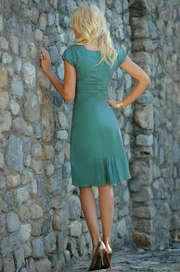 Sabrina Dress in Antique Turquoise