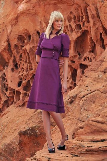 Eliza Dress in Petunia Purple
