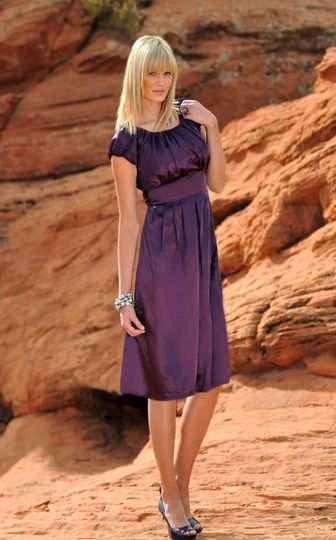 Madison Dress in Blackberry
