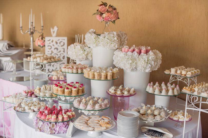 Elegant dessert display
