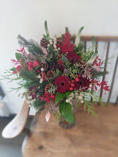 Fresh cut bridal bouquet