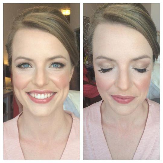 Eye makeup and blush