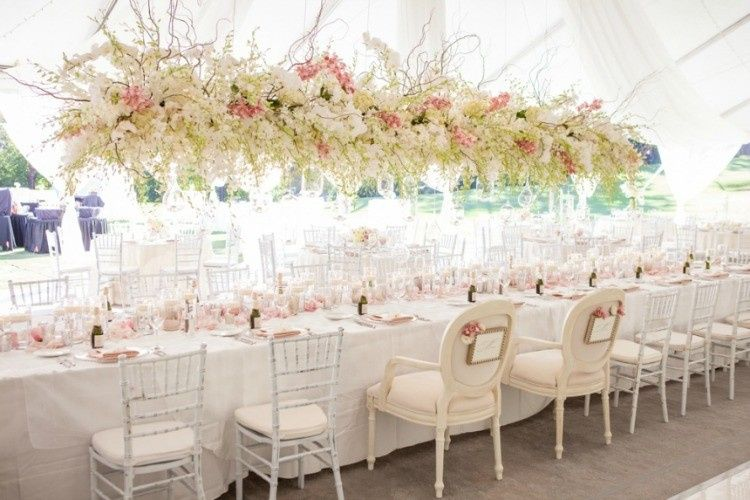 Wedding at Lake Oswego Country Club Flowers and Coordination - Kim Foren Claudine Chairs - Classic...