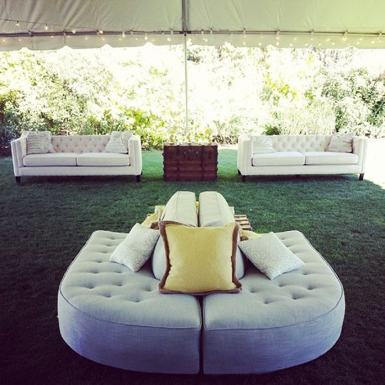 Wedding at McMenamins Edgefield Coordination - Luxe Event Productions Furniture - Classic Vintage...