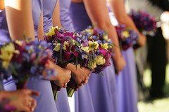 The periwinkle blue palette was accented with butter yellow.