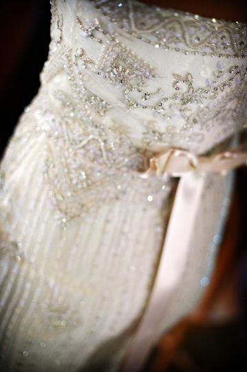 This beautiful Reem Acura gown could not have been worn by a more beautiful bride for an October...